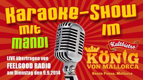 Live Karaoke auf Mallorca mit Mandi