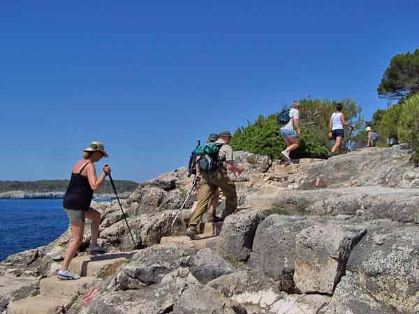 Wandern an der Küste Mallorcas